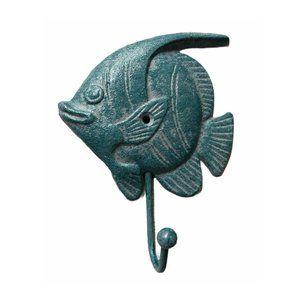 Blue Angel Fish Cast Iron  Hook
